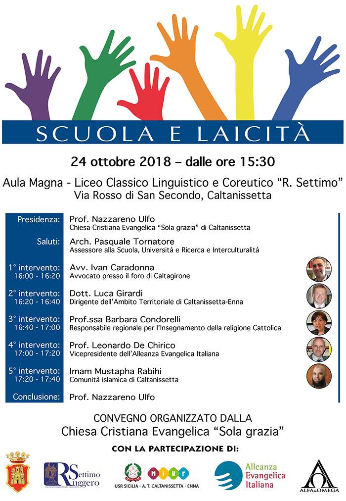 Locandina convegno scuola e laicita 2018